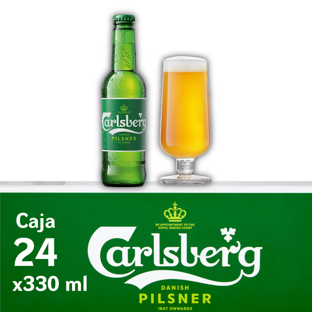 CARLSBERG 5° Botella 330ml PACK x24s