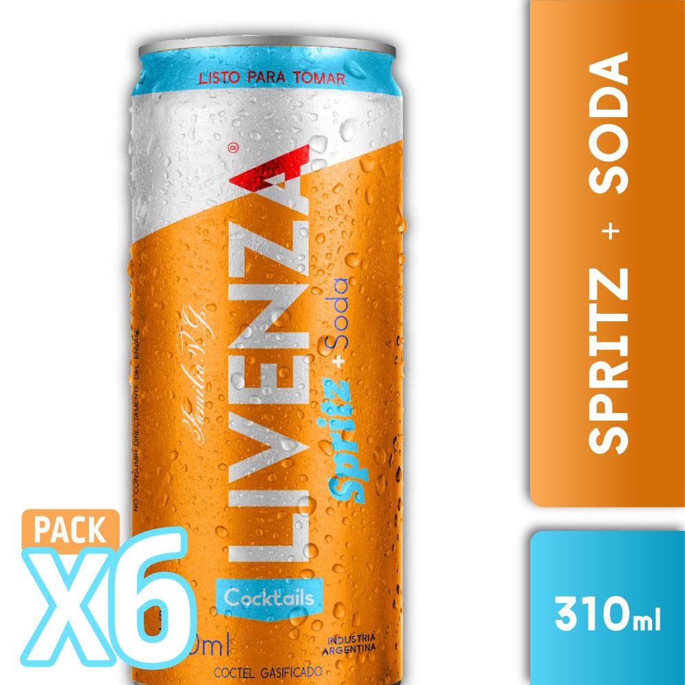 LIVENZA SPRITZ & SODA 310ml  PACK x6