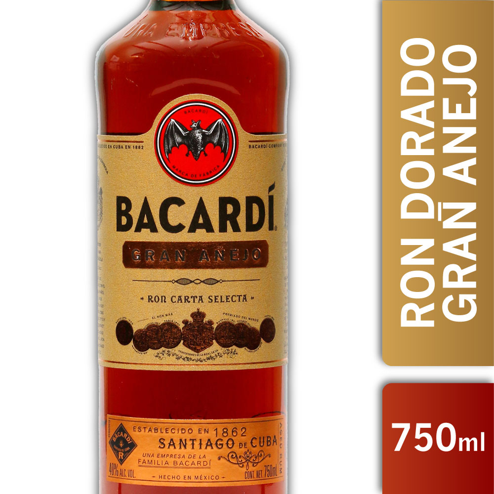 BACARDI GRAN AÑEJO 40º 750mls