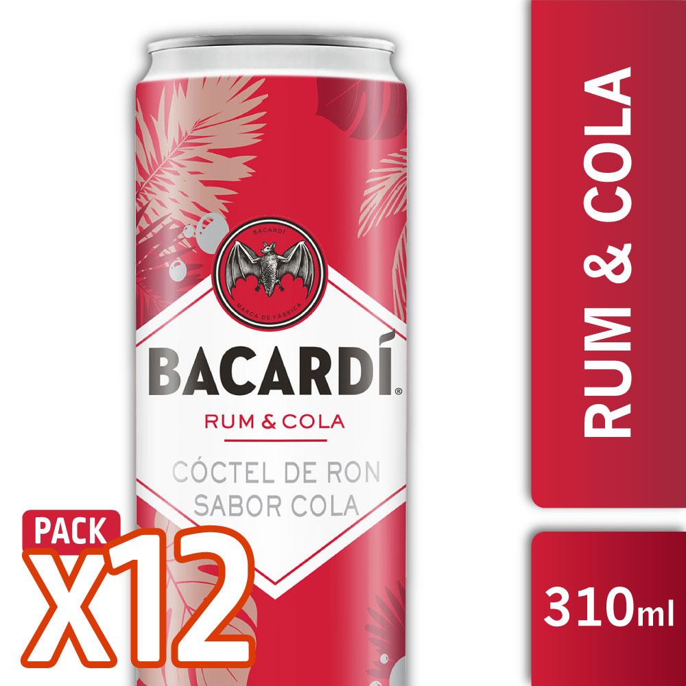 CAJA 12 BACARDI RUM & COLA 310ml
