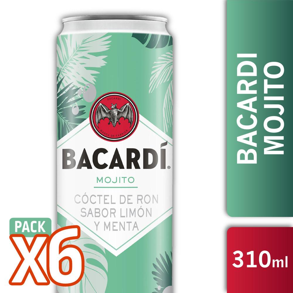 BACARDI MOJITO 310ML PACK X6