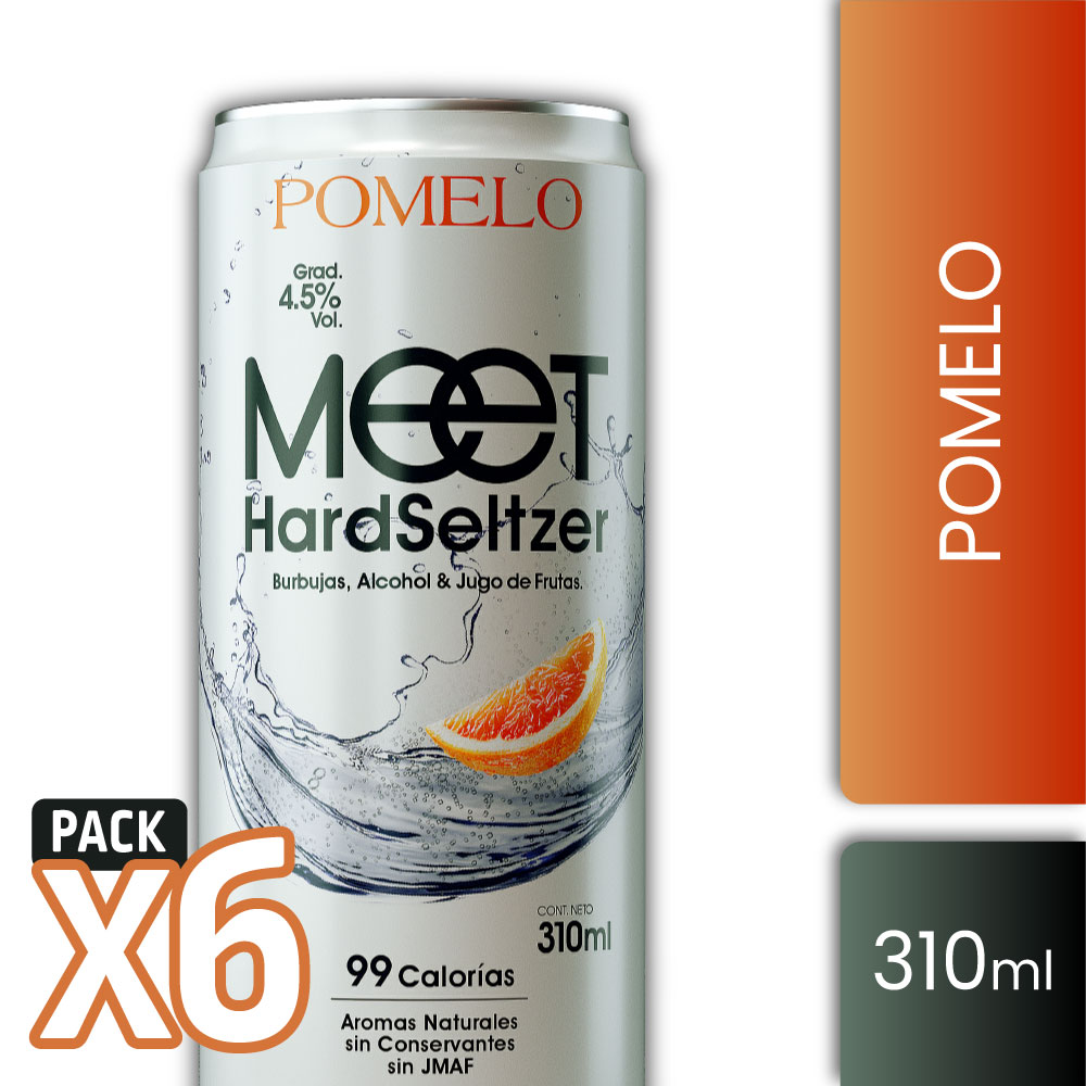 MEET HS POMELO 4,5° 310ml PACK x6