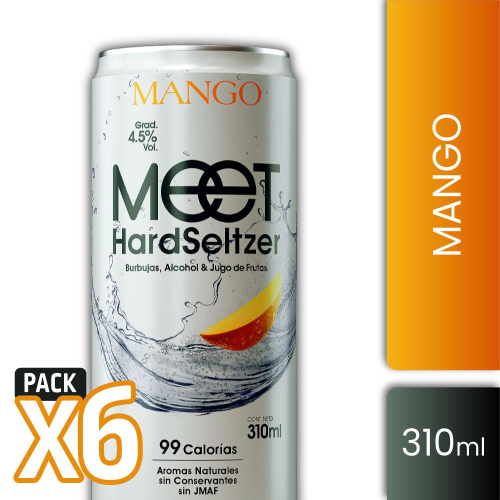 MEET HS MANGO 4,5° 310ml PACK x6