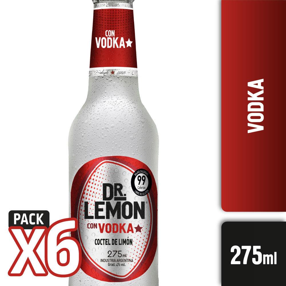 DR LEMON VODKA 275ml PACK x6