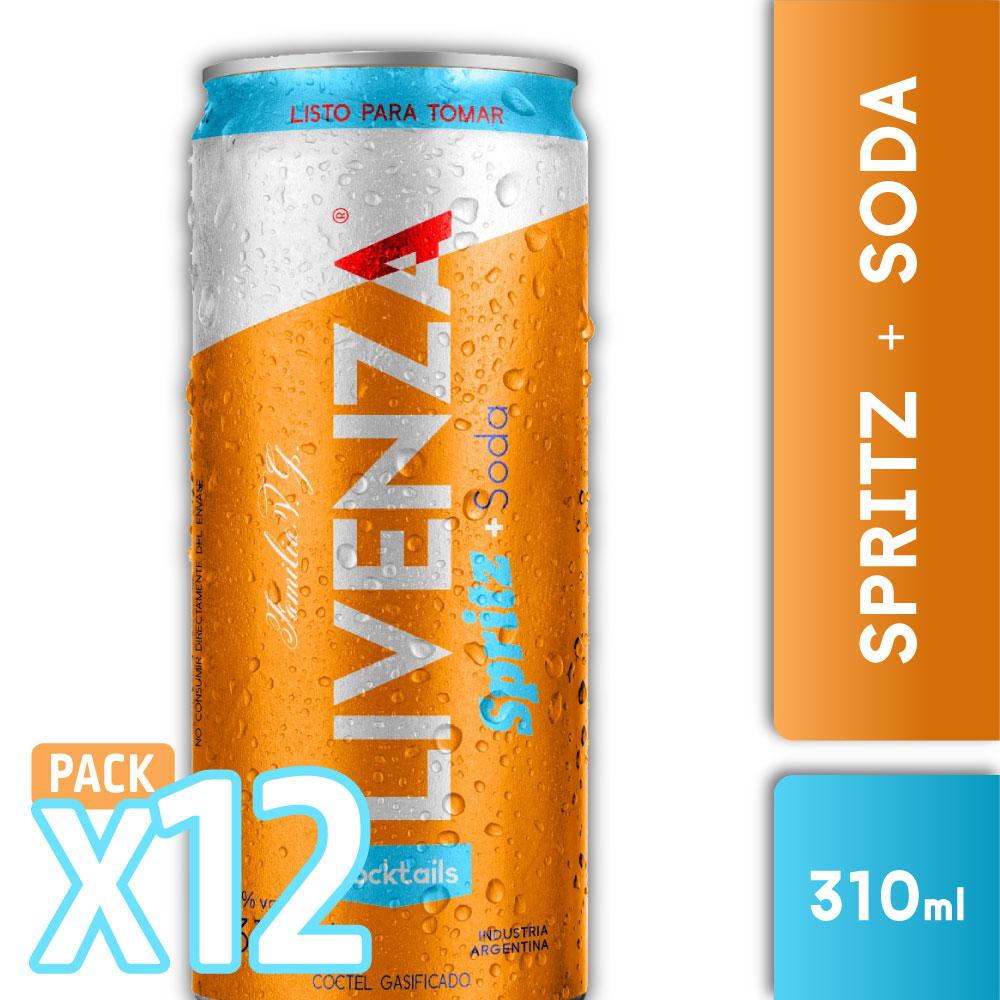 CAJA 12 LIVENZA SPRITZ & SODA 310ml