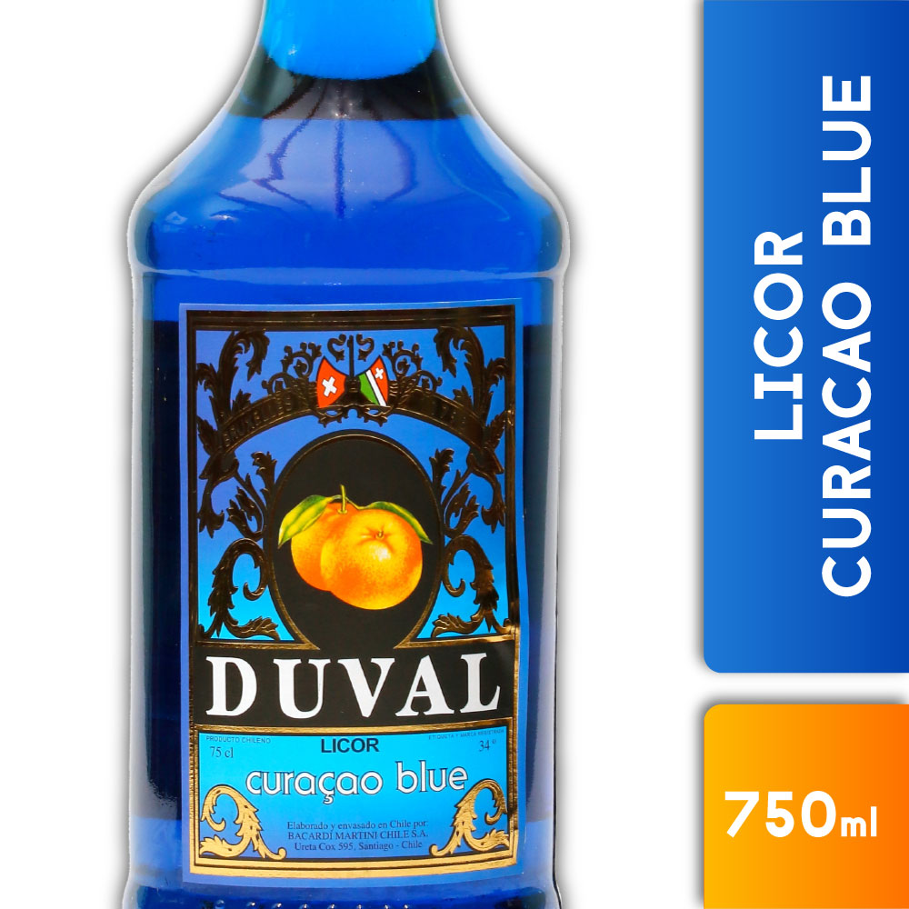 DUVAL CURACAO BLUE 34º 750mls