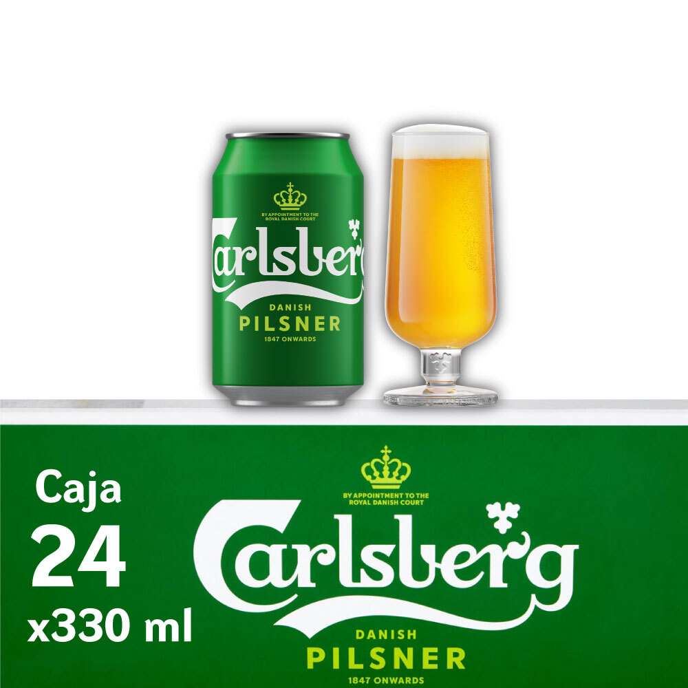CARLSBERG 5° Lata 330ml PACK x24s