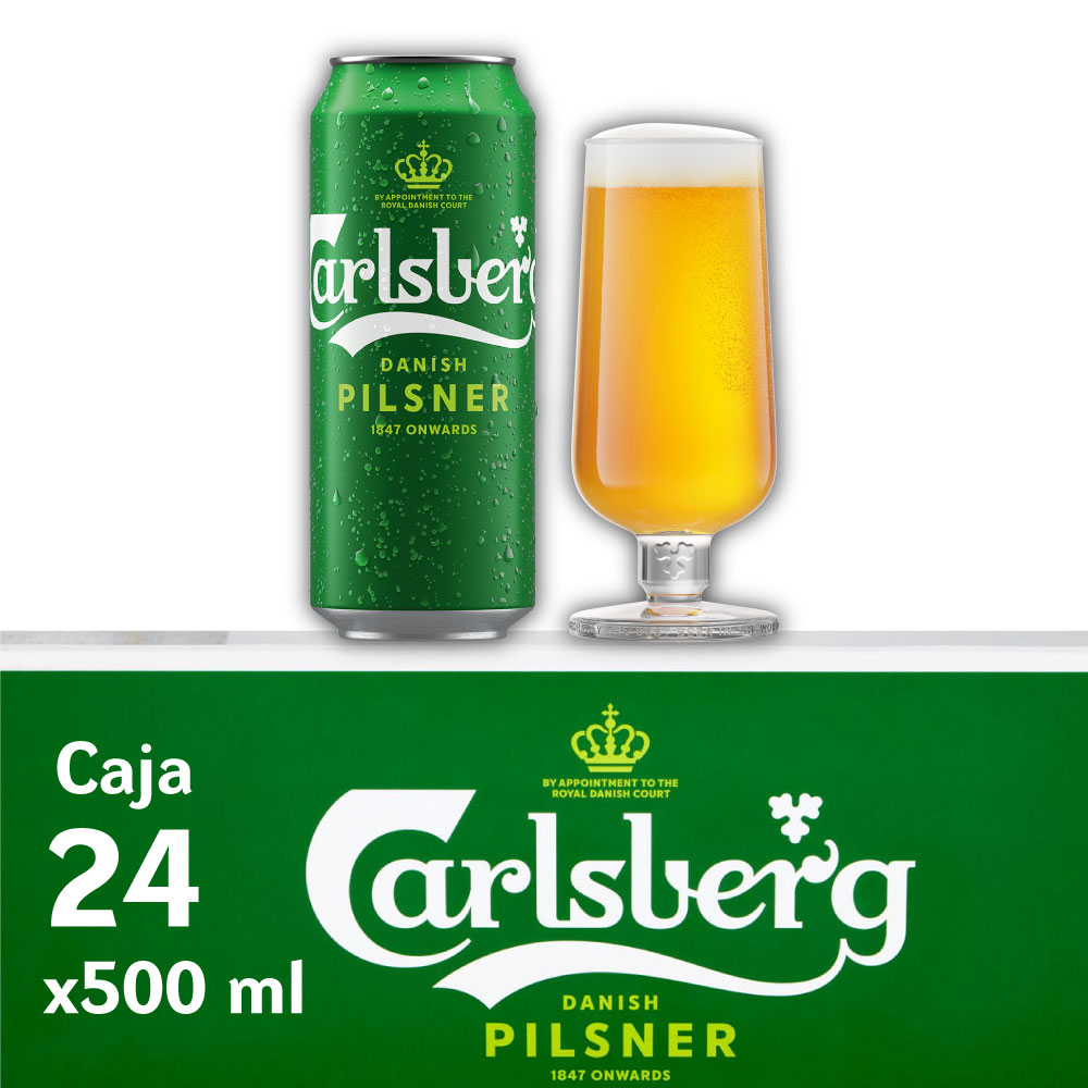 CARLSBERG 5° Lata 500ml PACK x24s
