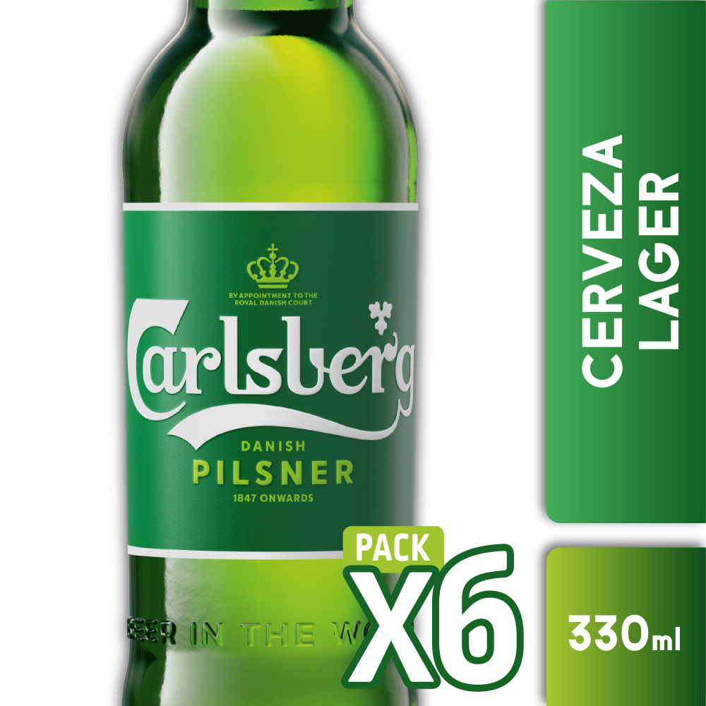 CARLSBERG 5° Botella 330ml PACK x6s