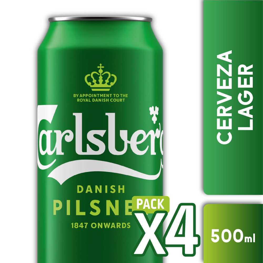 CARLSBERG 5° Lata 500ml PACK x4s