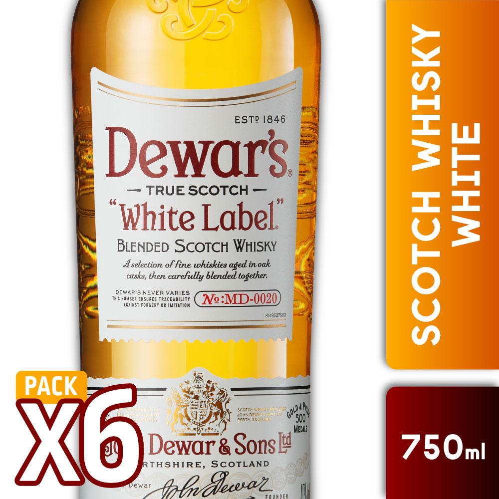CAJA 6 DEWARS WHITEs